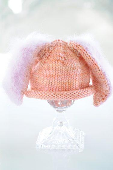 Peach Bunny Hat