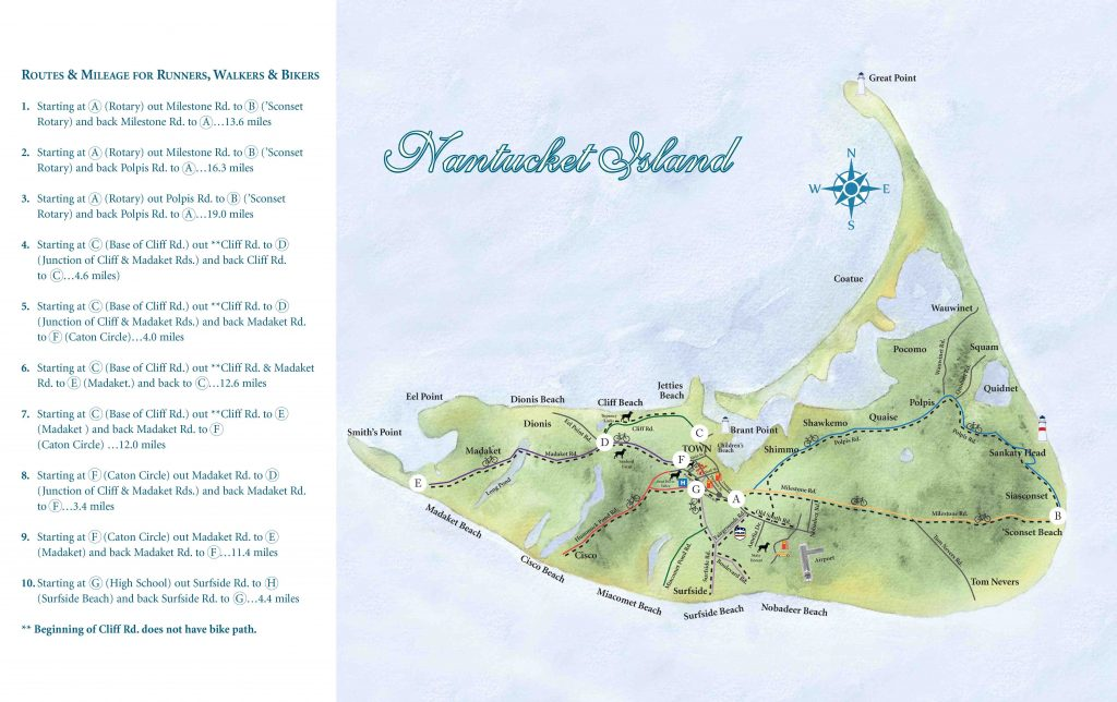 Nantucket Island Bike Map