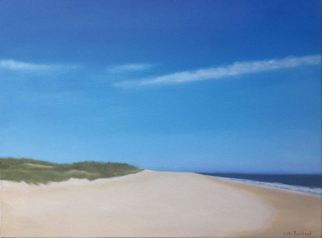 beach painting of nantucket