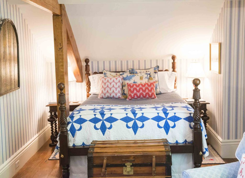cute bedroom on nantucket