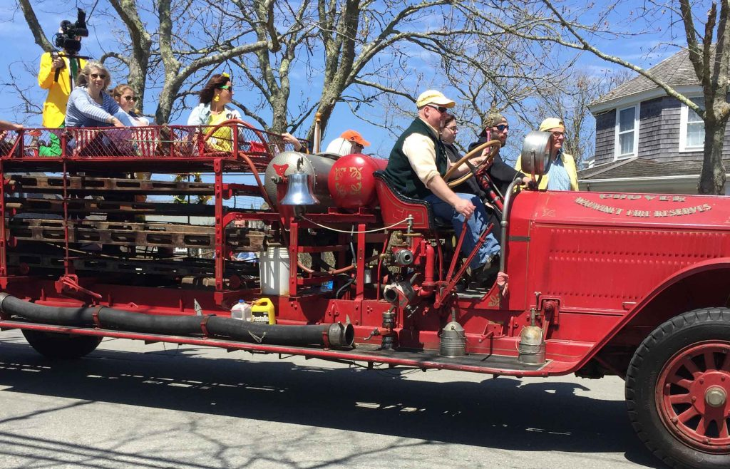 fire engine daffodil parade nantucket