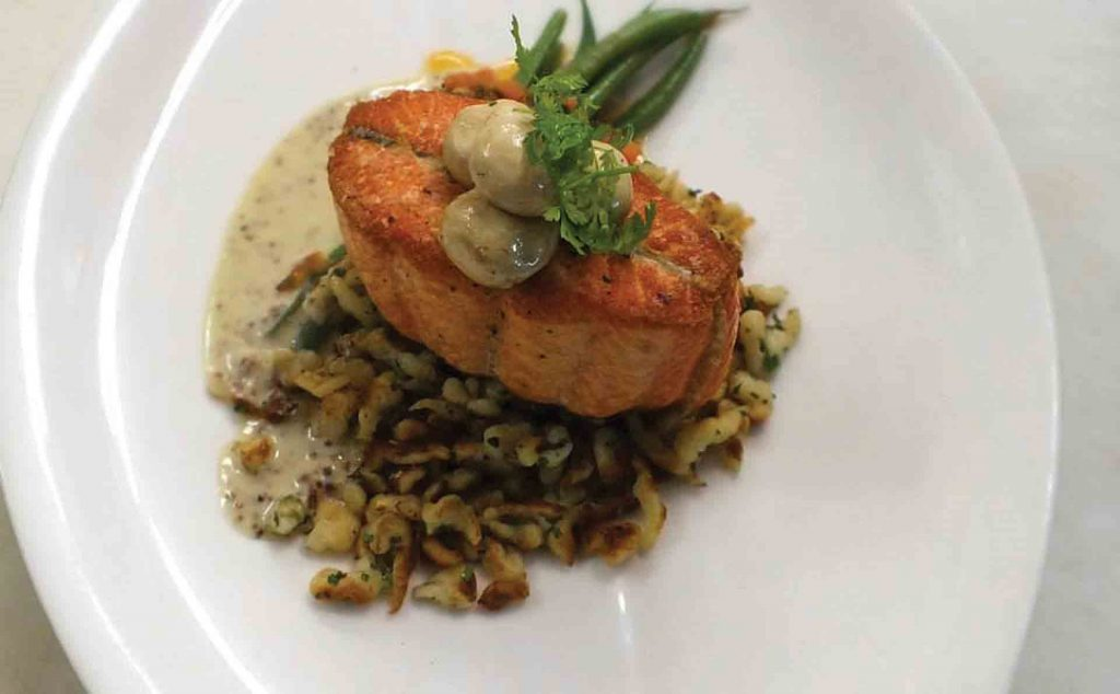 french food nantucket salmon