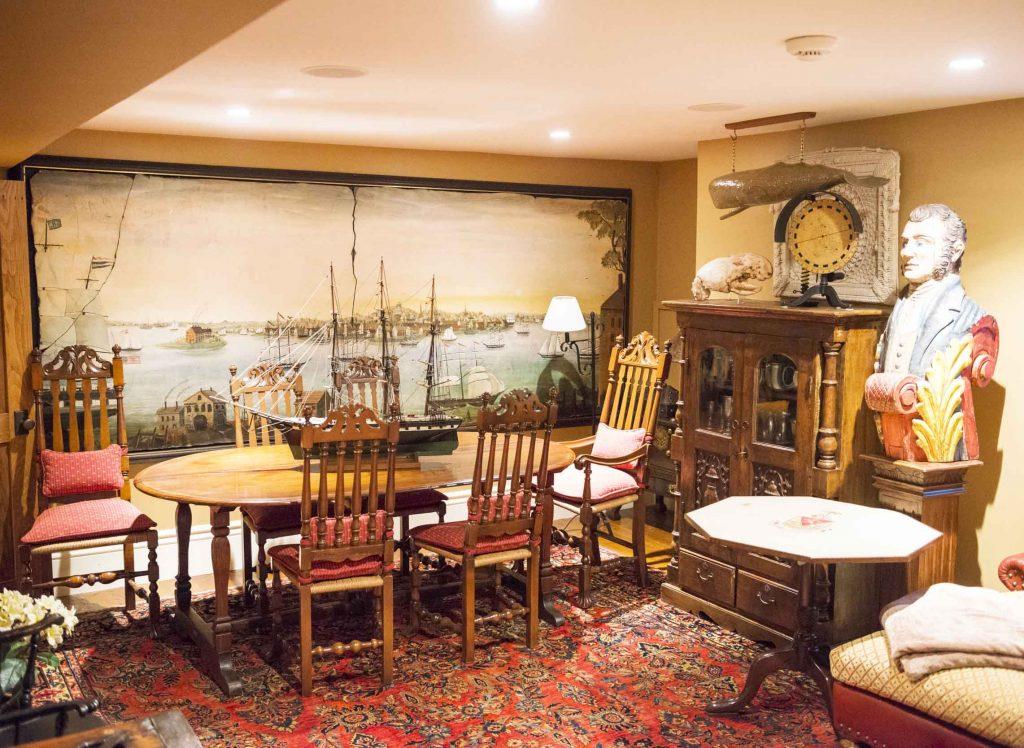 living room nantucket historic