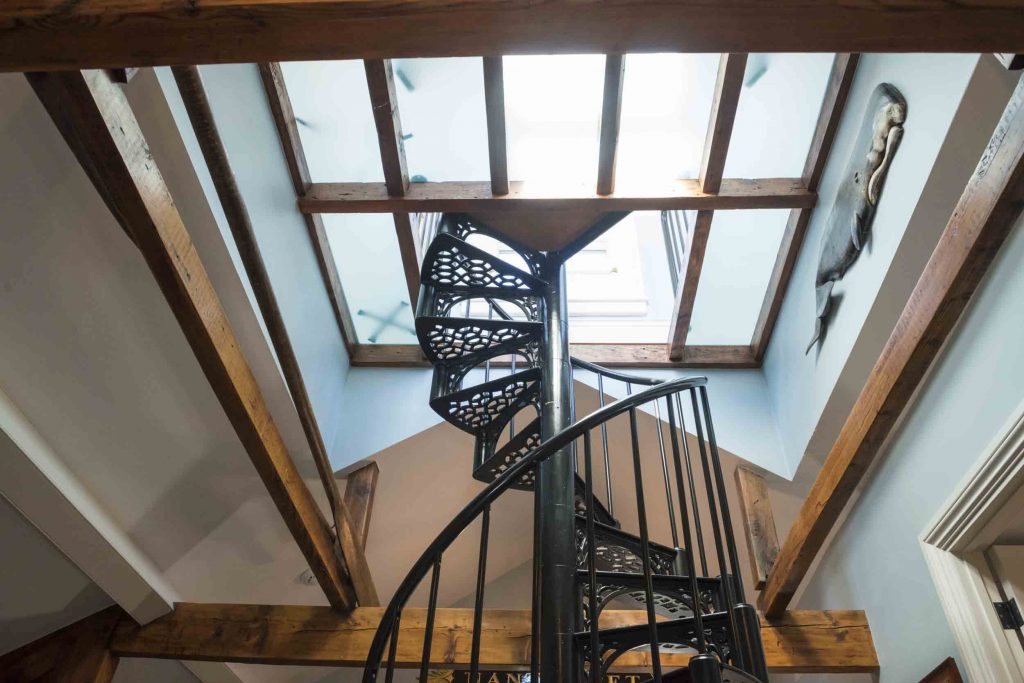 nantucket spiral staircase