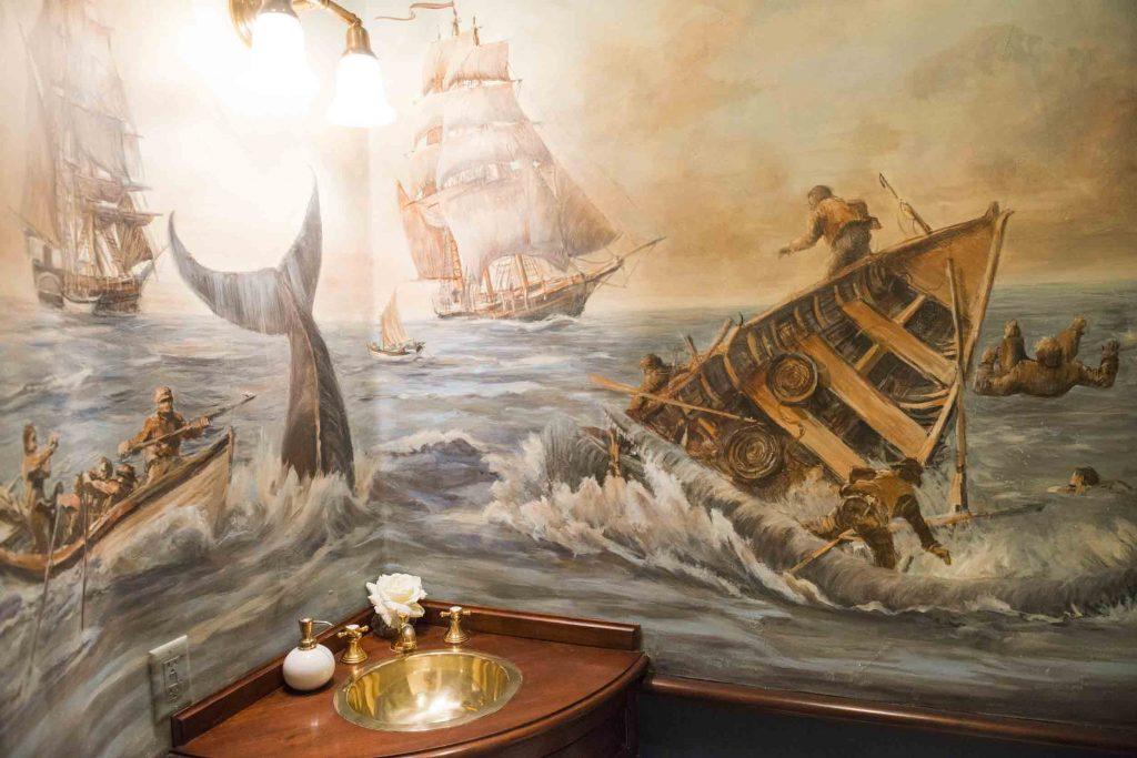 nantucket whale bathroom decoration