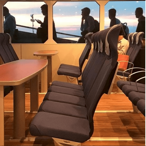 seating on the seastreak