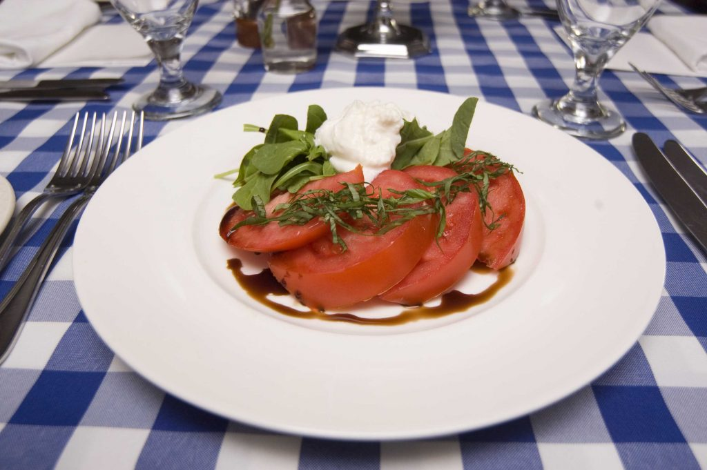 tomato salad at french bistro