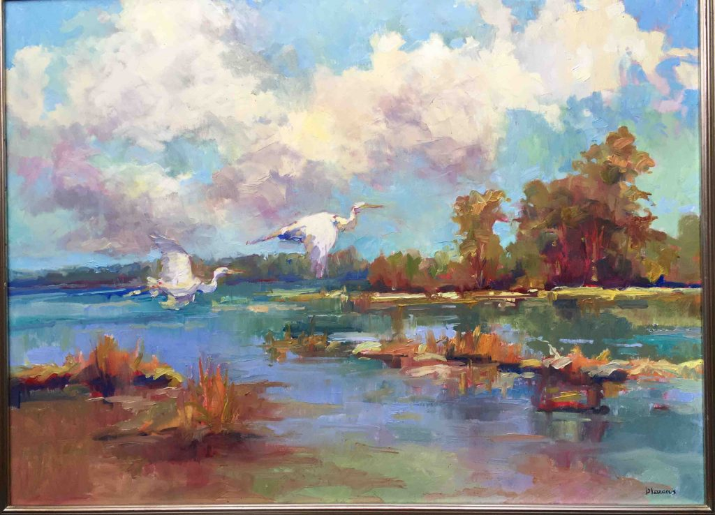 nantucket art scene oil paints