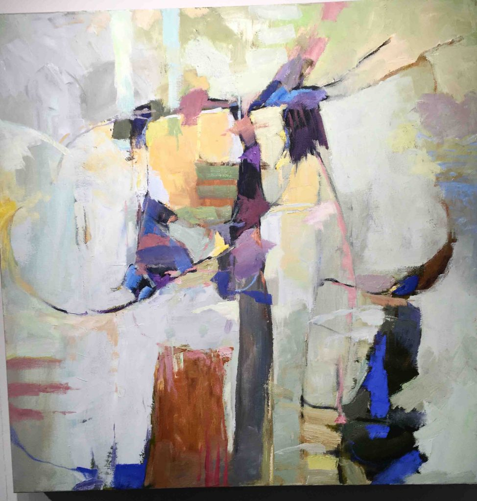 nantucket oil paint art and paint brush