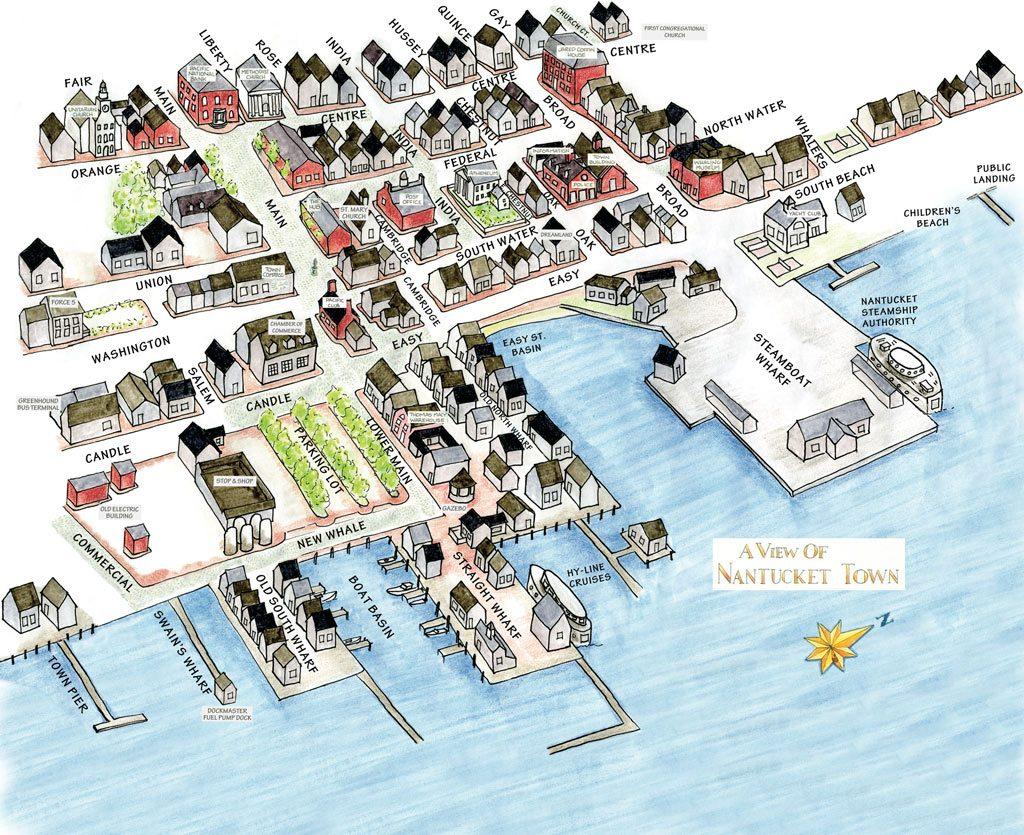 downtown nantucket map
