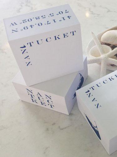 nantucket cube note pad