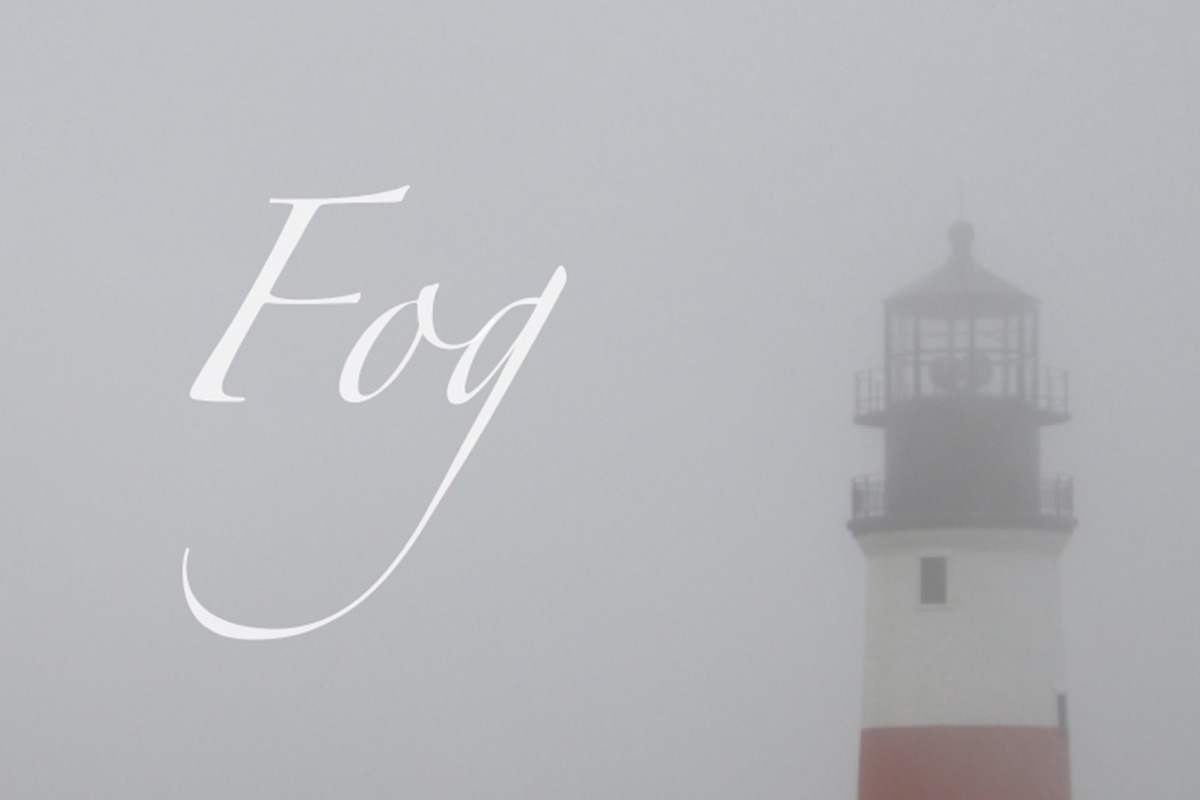 nantucket fog at sankaty lighthouse