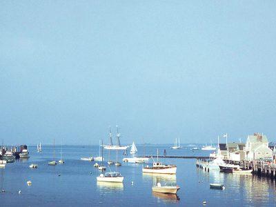old view of nantucket harbor