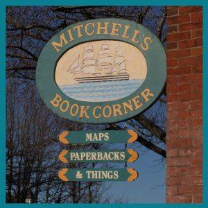 mitchells book shop sign
