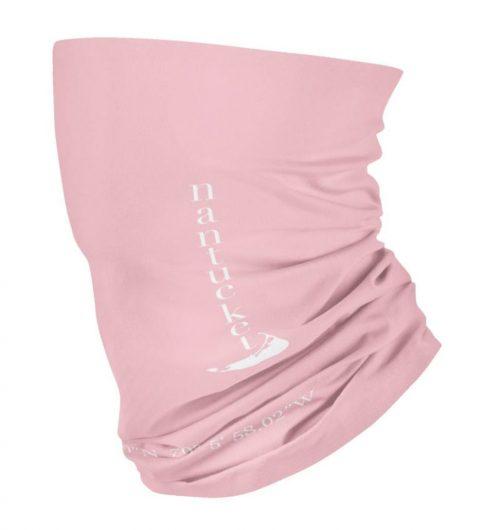 nantucket face mask gaiter light pink