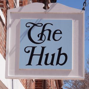 the hub sign nantucket