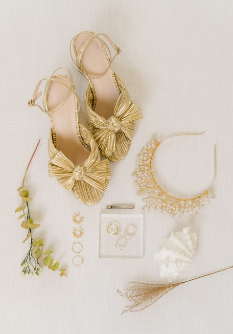 wedding detail shoes and jewelry nantucket
