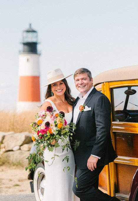 sankaty light wedding photo nantucket