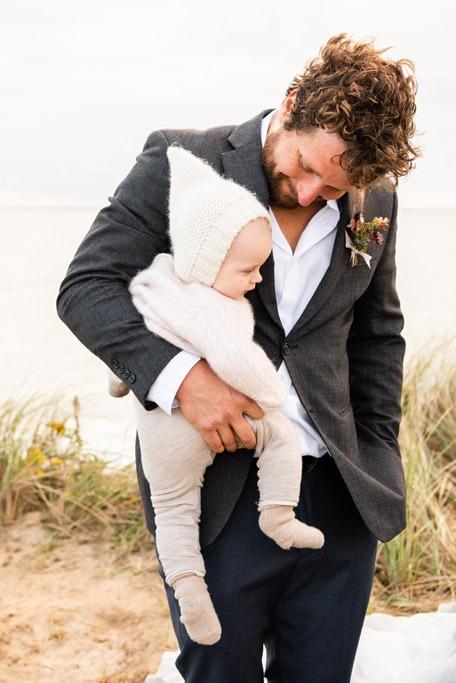 nantucket baby at wedding 2020