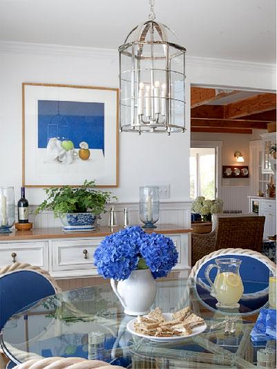 blue flowers indoors