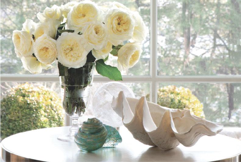white roses indoor flower arrangement