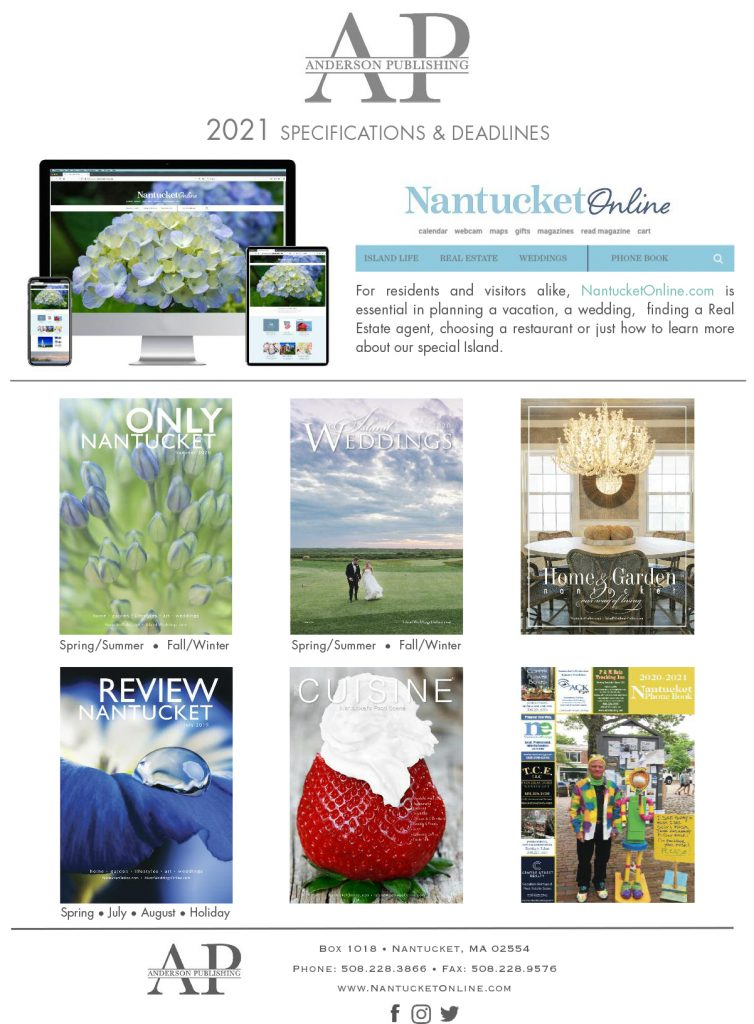 nantucket publications list and deadlines